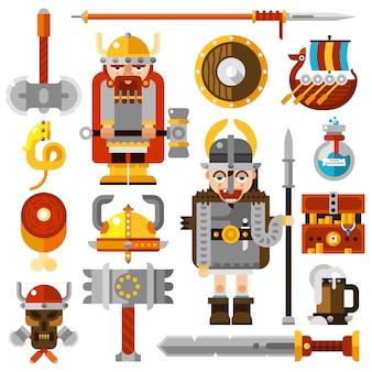 Conjunto de ícones de vikings
