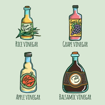 Conjunto de ícones de vinagre