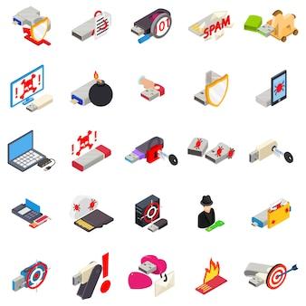 Conjunto de ícones de vírus