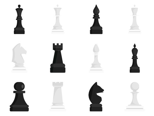 Conjunto de ícones de xadrez
