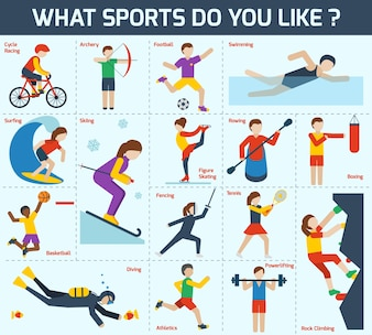 Conjunto de ícones desportivos