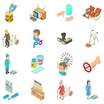 Conjunto de ícones diabéticos