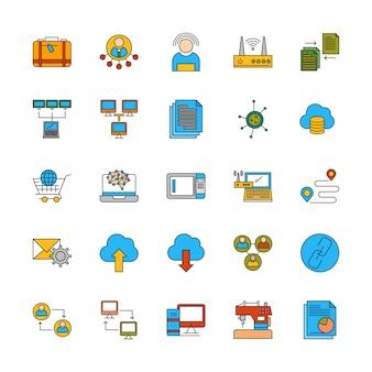 Conjunto de ícones diferentes