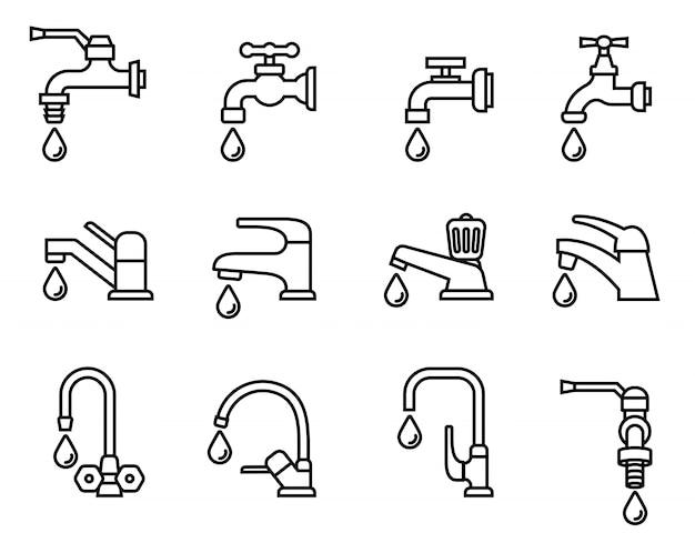 Conjunto de ícones do banheiro
