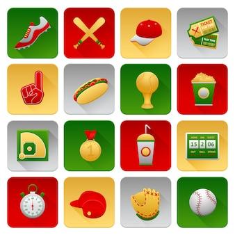 Conjunto de ícones do basebol