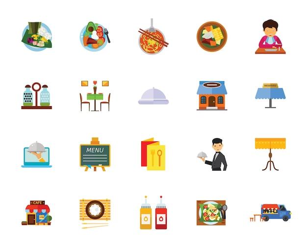 Conjunto de ícones do café