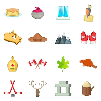 Conjunto de ícones do canadá