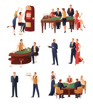 Conjunto de ícones do cassino