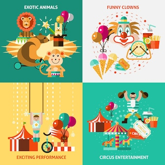 Conjunto de ícones do circo