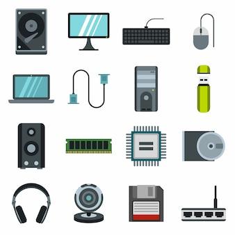 Conjunto de ícones do computador