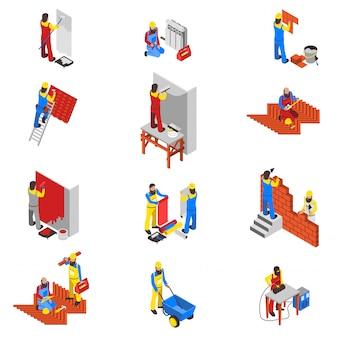 Conjunto de ícones do construtor