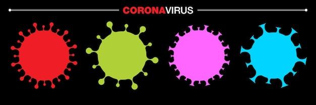 Conjunto de ícones do coronavirus covid19 coronavirus 2019ncov symbol parar o vetor de infecção por coronavirus