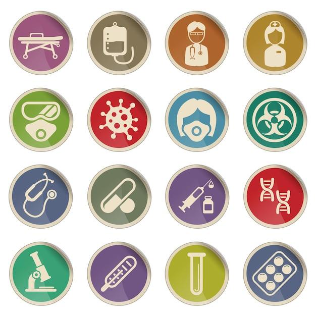 Conjunto de ícones do coronavirus para infográfico ou site novel coronavirus 2019ncov