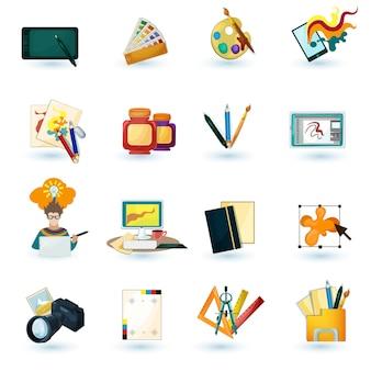 Conjunto de ícones do designer