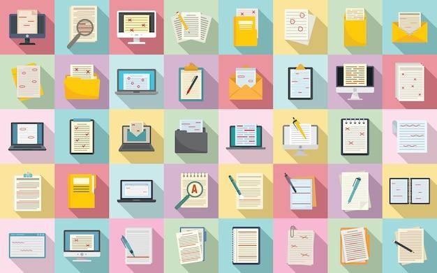 Conjunto de ícones do editor