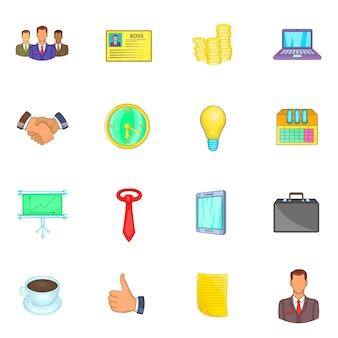 Conjunto de ícones do empresário