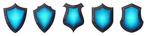 Conjunto de ícones do escudo. . ilustração.