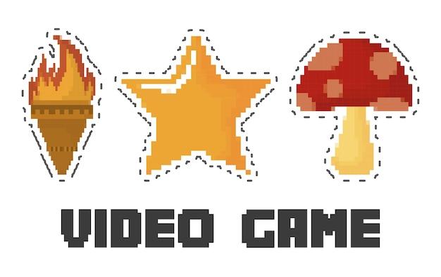 Conjunto de ícones do jogo de vídeo
