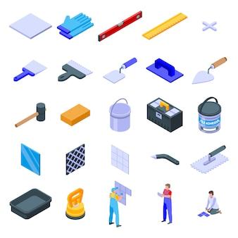 Conjunto de ícones do ladrilhador