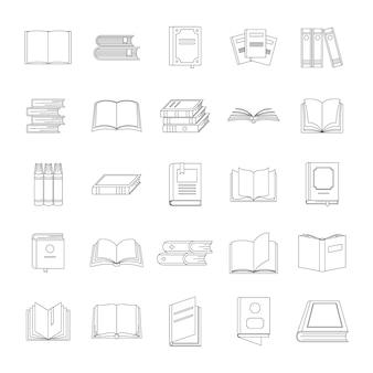 Conjunto de ícones do livro