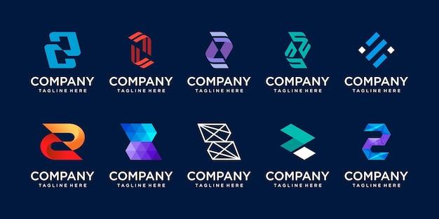 Conjunto de ícones do logotipo z