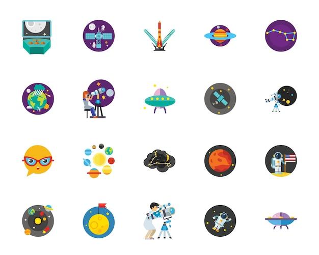 Conjunto de ícones do luna park