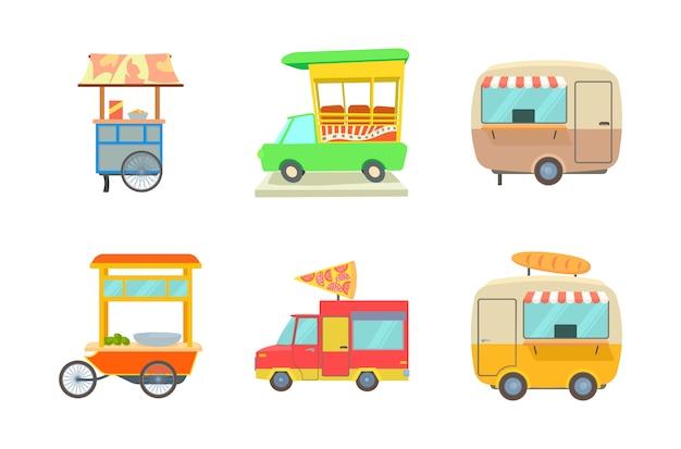 Conjunto de ícones do mercado de rua