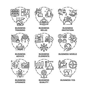 Conjunto de ícones do mundo dos negócios