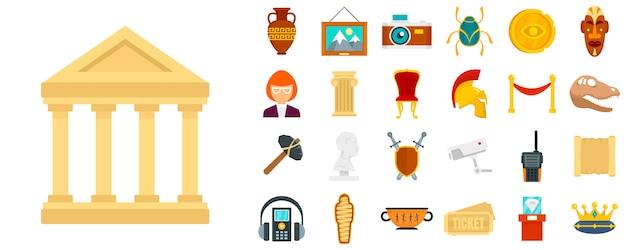 Conjunto de ícones do museu