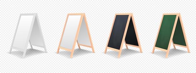 Conjunto de ícones do painel de anúncios do menu especial isolado