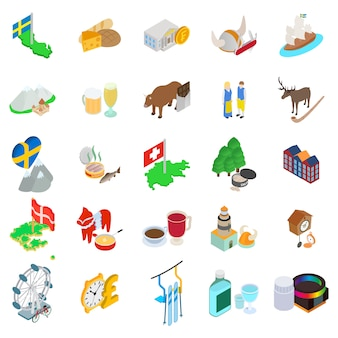 Conjunto de ícones do país báltico