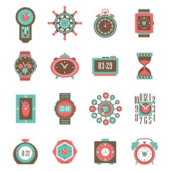 Conjunto de ícones do relógio