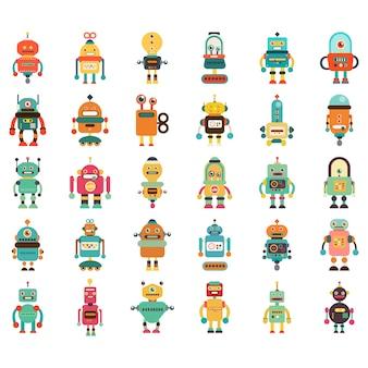 Conjunto de ícones do robô