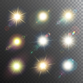 Conjunto de ícones do sol design elementos