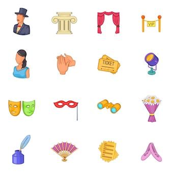 Conjunto de ícones do teatro