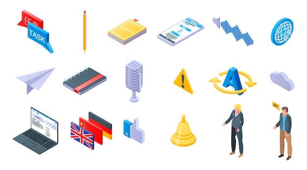 Conjunto de ícones do tradutor