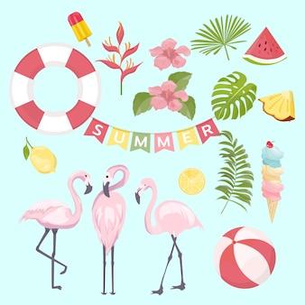 Conjunto de ícones do verão