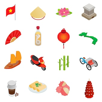 Conjunto de ícones do vietnã
