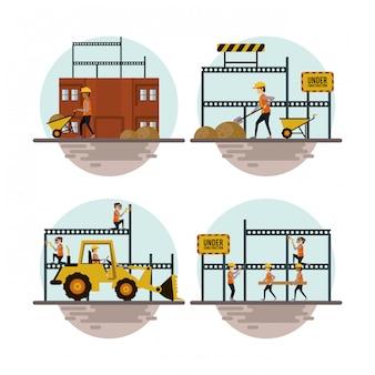 Conjunto de ícones em construção