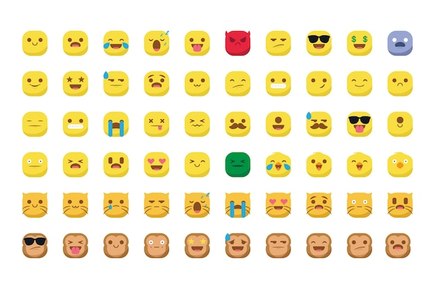 Conjunto de ícones emojis