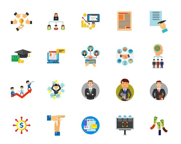 Conjunto de ícones empresariais