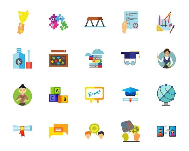 Conjunto de ícones escolares