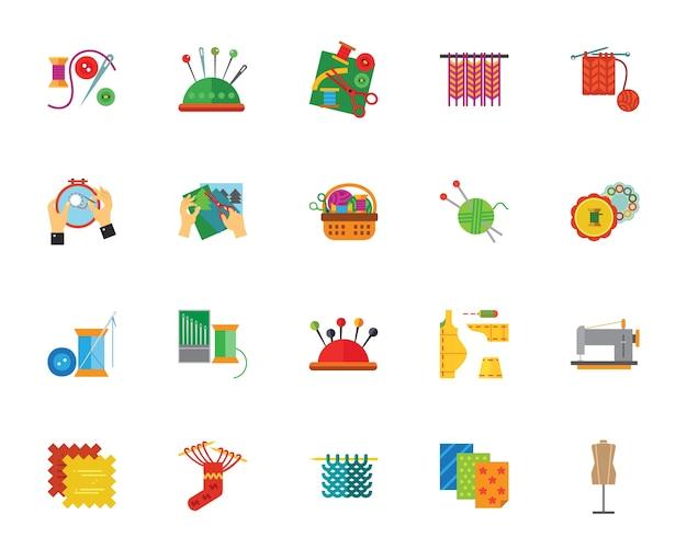 Conjunto de ícones feitos à mão