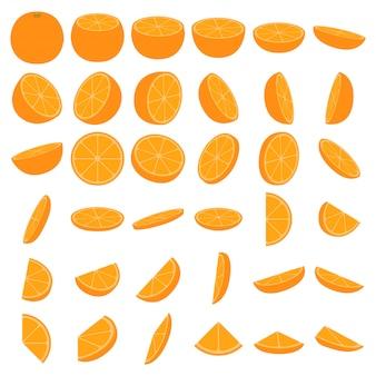 Conjunto de ícones laranja