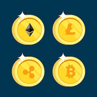 Conjunto de ícones litecoin
