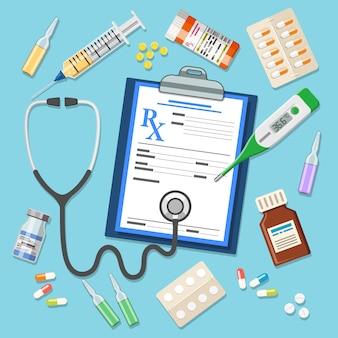 Conjunto de ícones medicinais