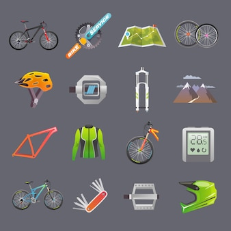 Conjunto de ícones modernos plana.
