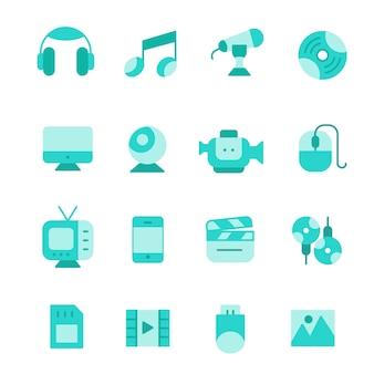 Conjunto de ícones multimídia