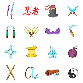 Conjunto de ícones ninja