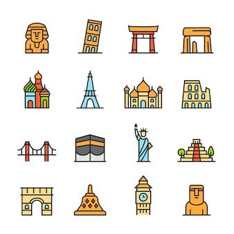 Conjunto de ícones paforo (landmark)